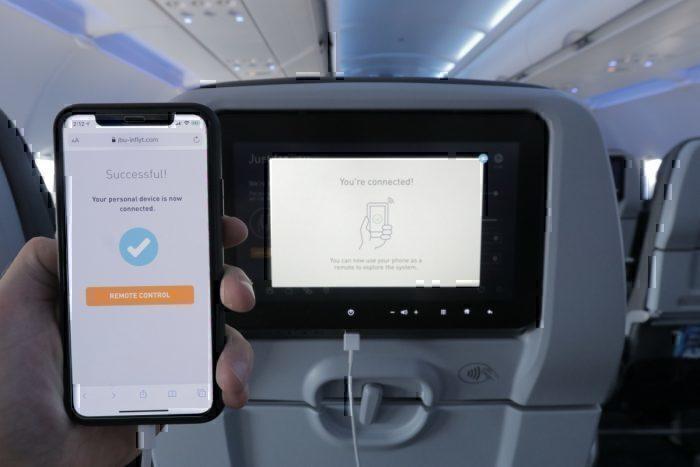 JetBlue phone remote