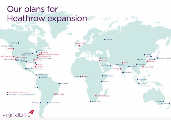 Virgin Atlantic, Heathrow Slots, International Expansion
