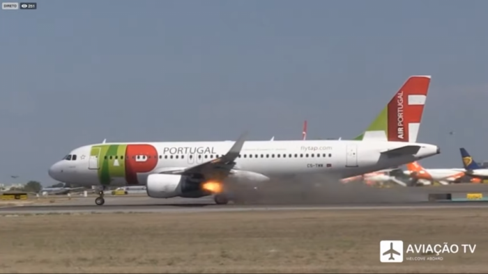 TAP Air Portugal A320 Engine Explosion Caught On Camera