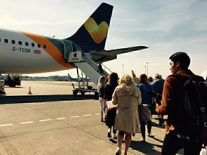Thomas Cook airlines boarding