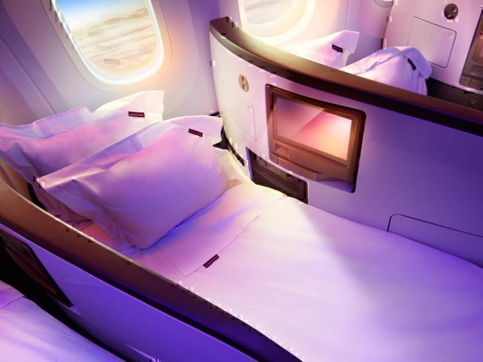 Upper CLass on the Virgin Dreamliner