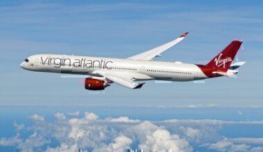 Virgin A350 flying