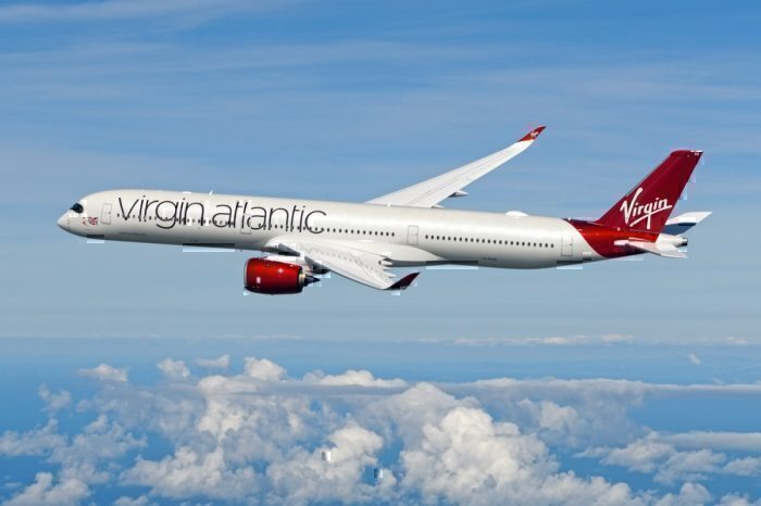 Virgin A350 flying