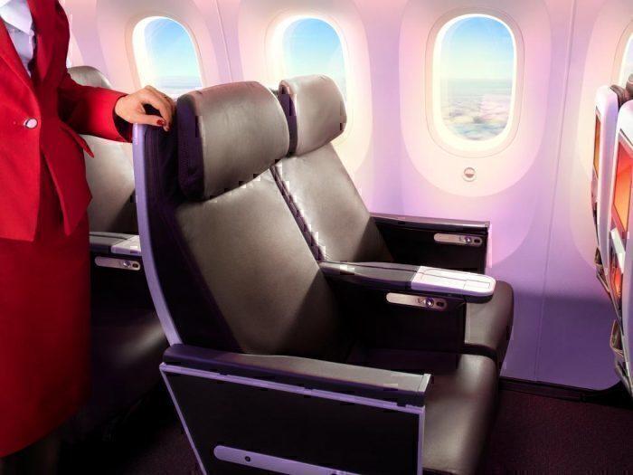 Virgin current PE seats