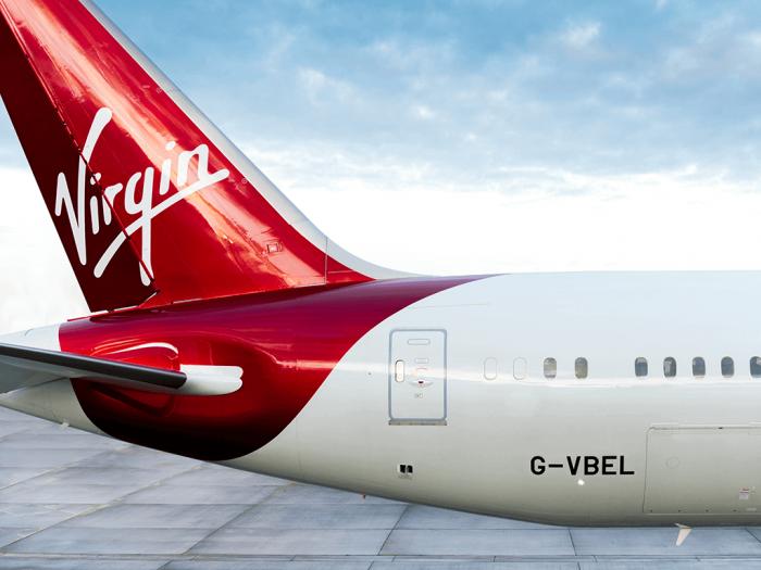 Virgin dreamliner tail