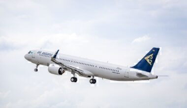 Air Astana jet take-off