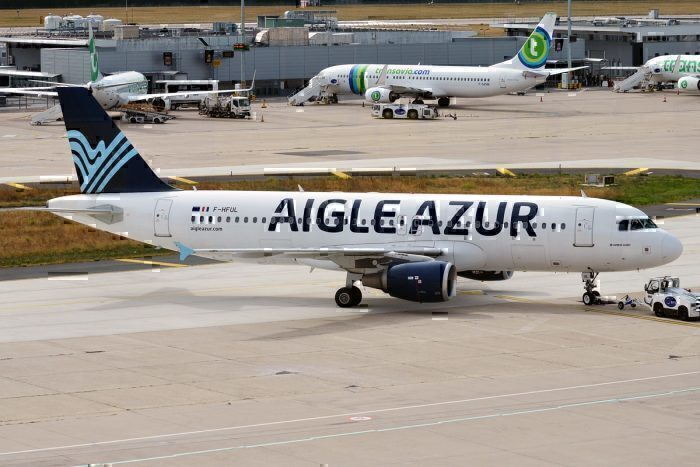 Aigle Azur jet on taxiway