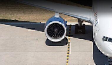 Delta jet on apron