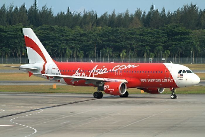 AirAsia A320 on taxiway