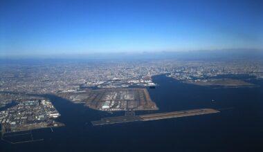 Haneda airport from air