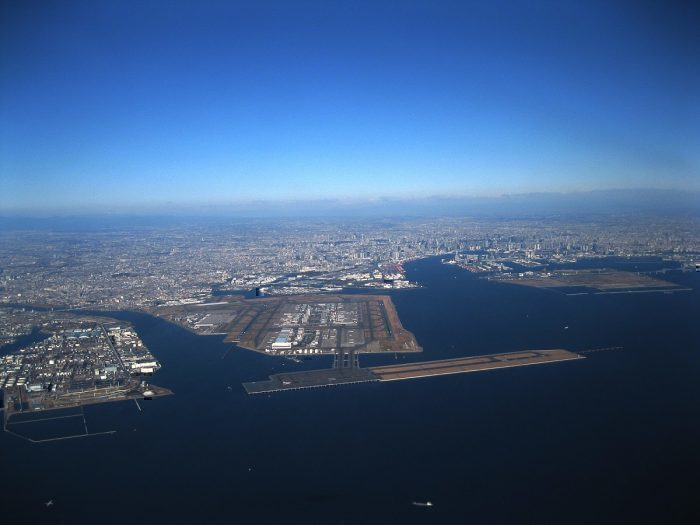 Haneda airport from air