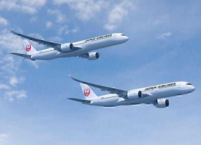 JAL jets concept in flight