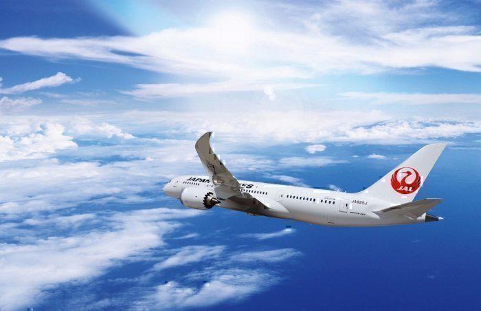 JAL jet in flight concept