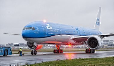 KLM jet on taxiway