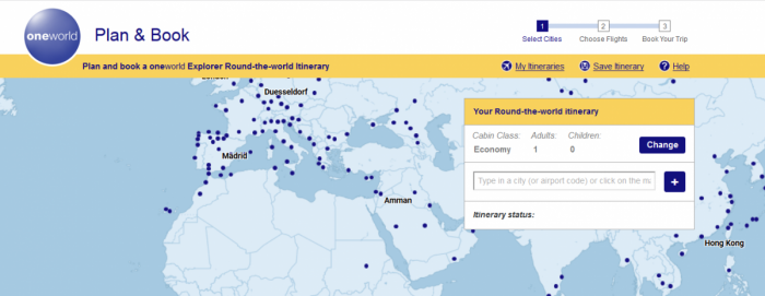 Oneworld explorer booking