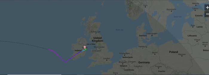 Norwegian diverts to Dublin