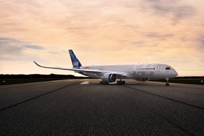SAS jet on taxiway concept