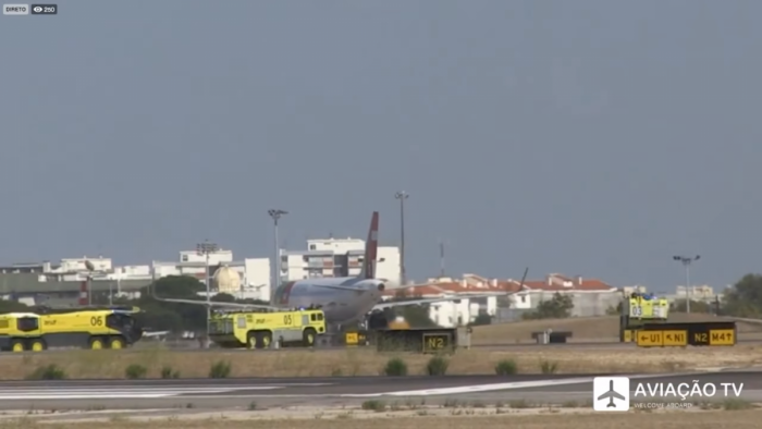 TAP A320 engine explosion