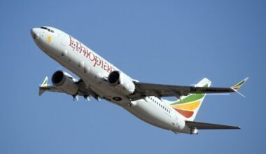 An Ethiopian Airlines Boeing 737 MAX