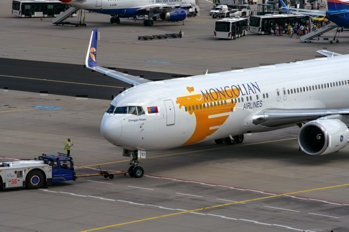 A Mongolian Airlines Boeing 767