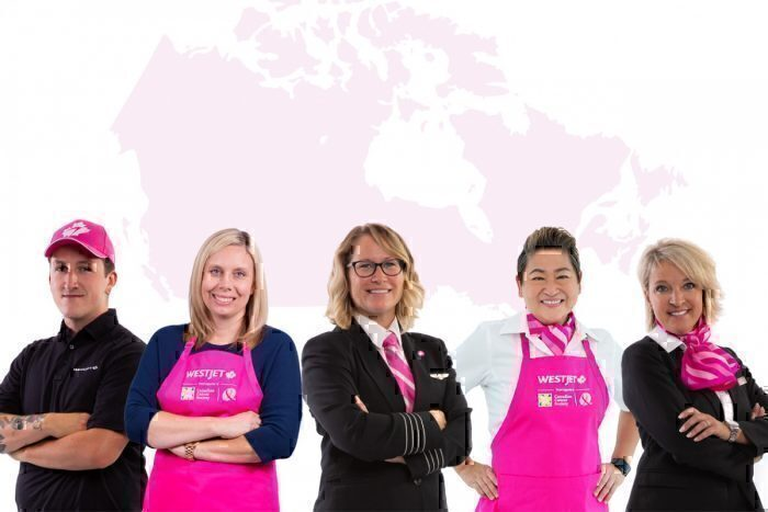 WestJet Crew Wear Pink For Seventh Year Running In Fight Against Cancer