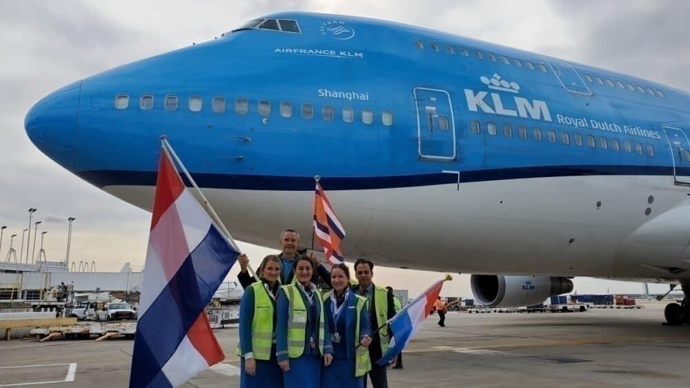KLM, Boeing 747, Chicago