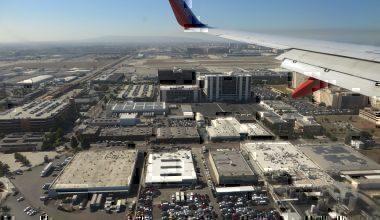 Landing at Los Angeles International Airport,