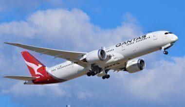 A Qantas Boeing 787 Dreamliner