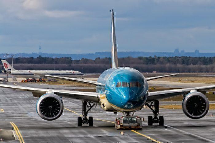 A Vietnam Airlines Boeing 787-9 Dreamliner