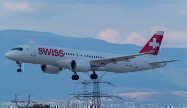 A SWISS Airbus A220