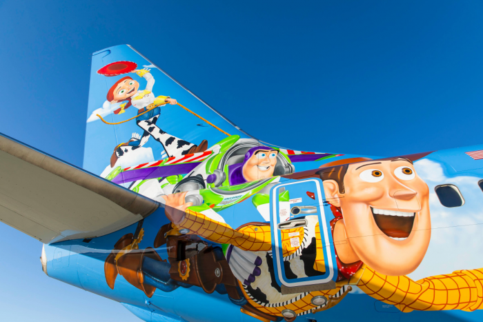 Alaska Airlines, Toy Story, Disneyland Pixar Pier