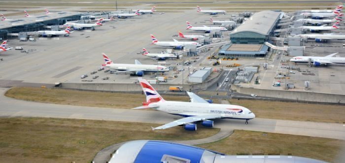 Grounded British Airways Planes at Heathrow