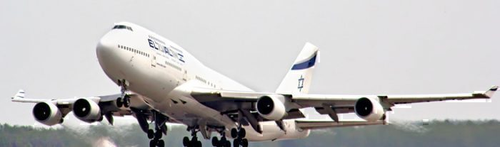 """Final El Al Boeing 747 Flight To """"Paint"""" An Aircraft In The Sky"""