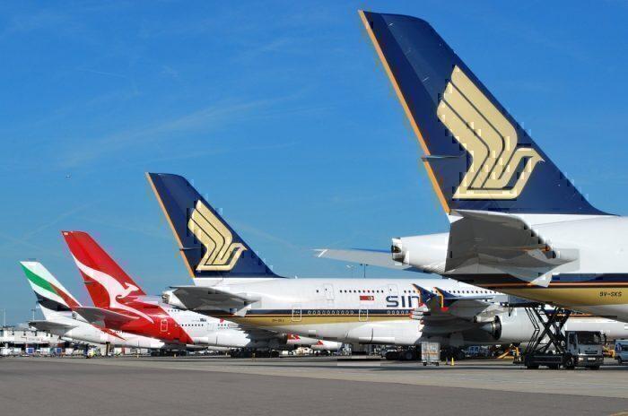 A380s at Heathrow