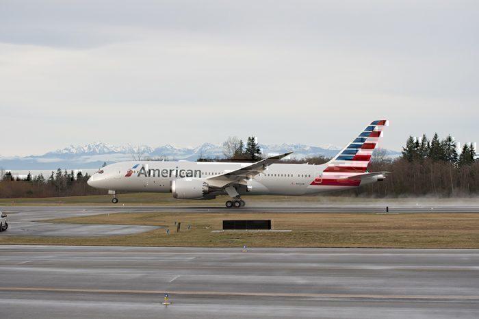 American 787 Takeoff