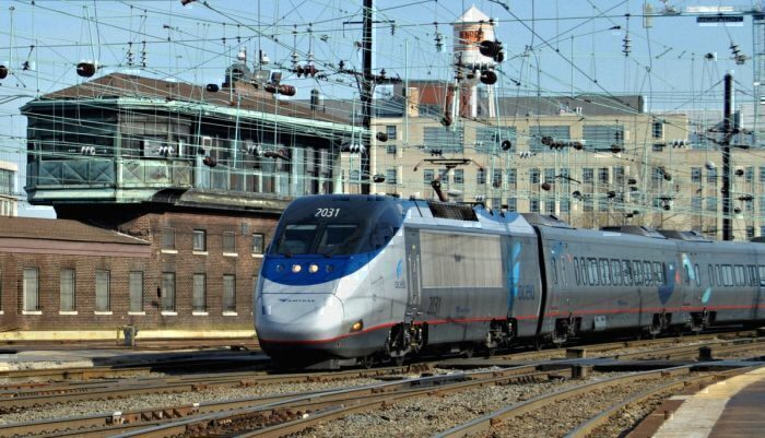Amtrak Acela Train in Washington DC