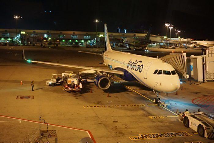 Indigo A320 parked