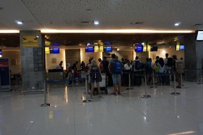 Garuda check-in counter