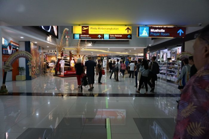 Ample shopping opportunities in the airport