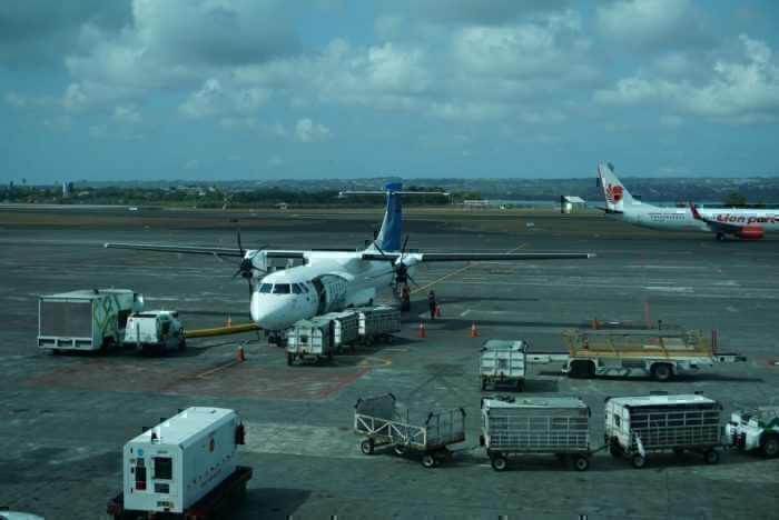Garuda ATR 72 sitting on the tarmac
