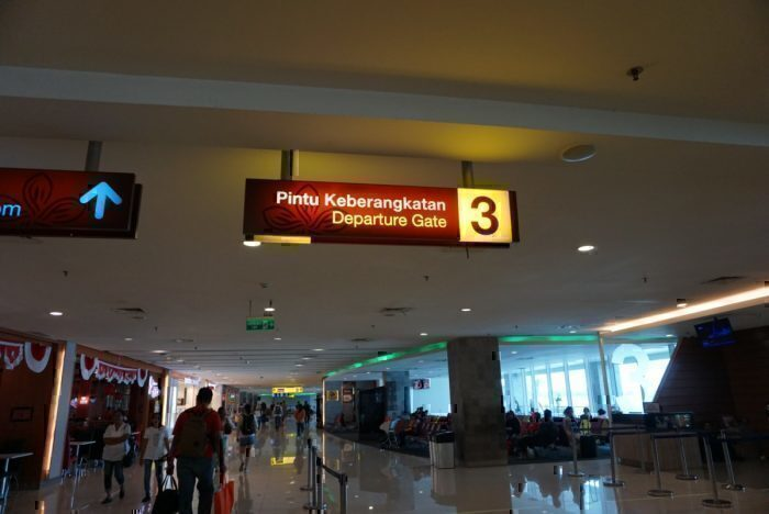 Gate 3 waiting area