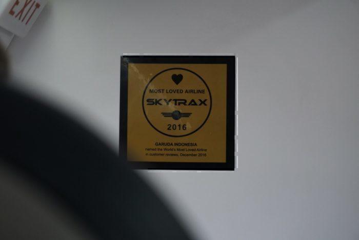 SkyTrax award, Garuda service