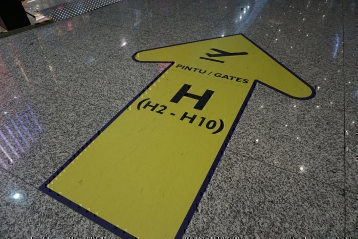 long walk, gate signs