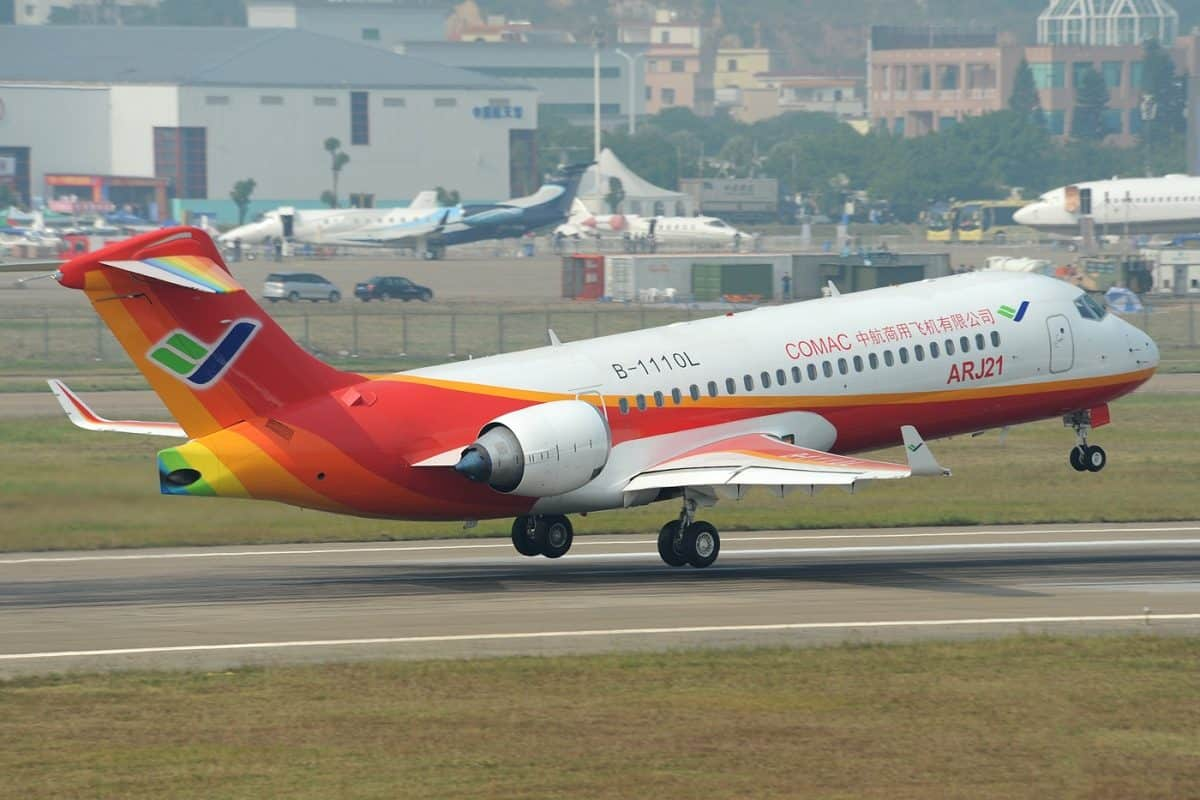 COMAC Delivers First ARJ21 From Shanghai Production Line