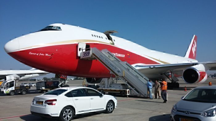 A Look At Boeing's One Of A Kind Firefighting Boeing 747 – The Supertanker