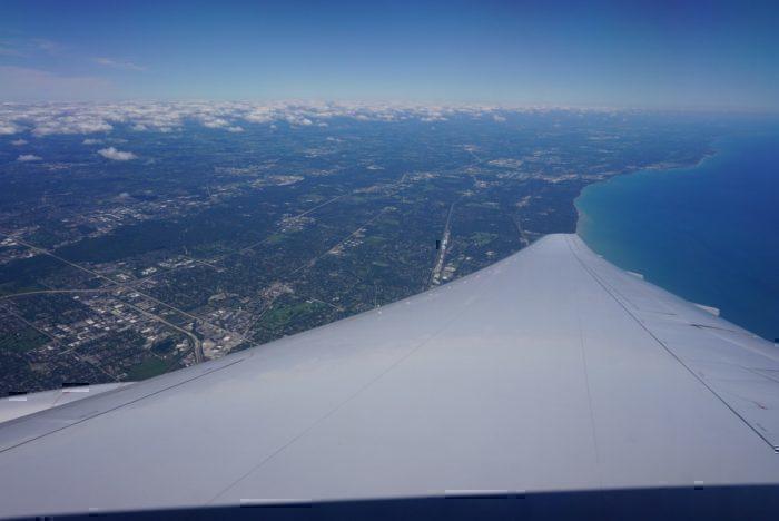 landing, Lake Michigan view