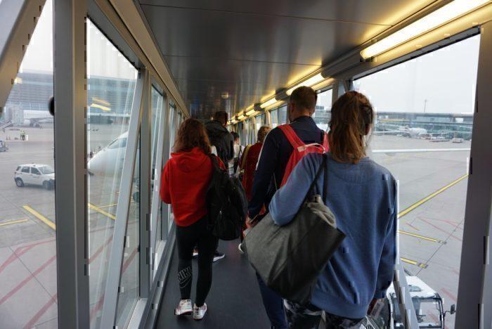 jet bridge, waiting to board, A220 View