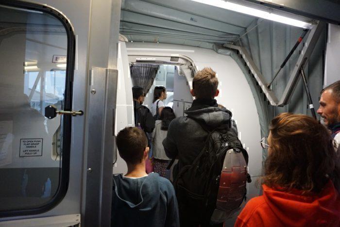 boarding, plane door