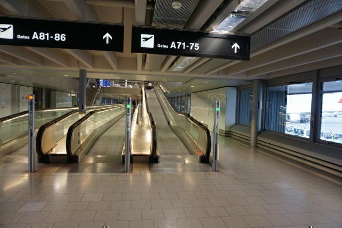 long walk, airport walkway