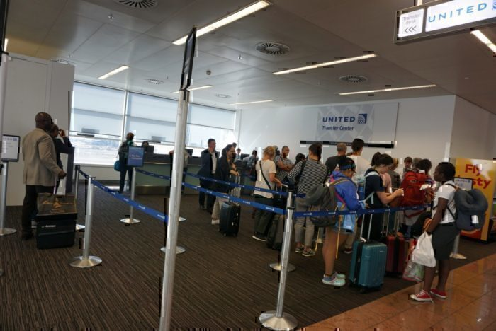 US Immigration check point, preboarding